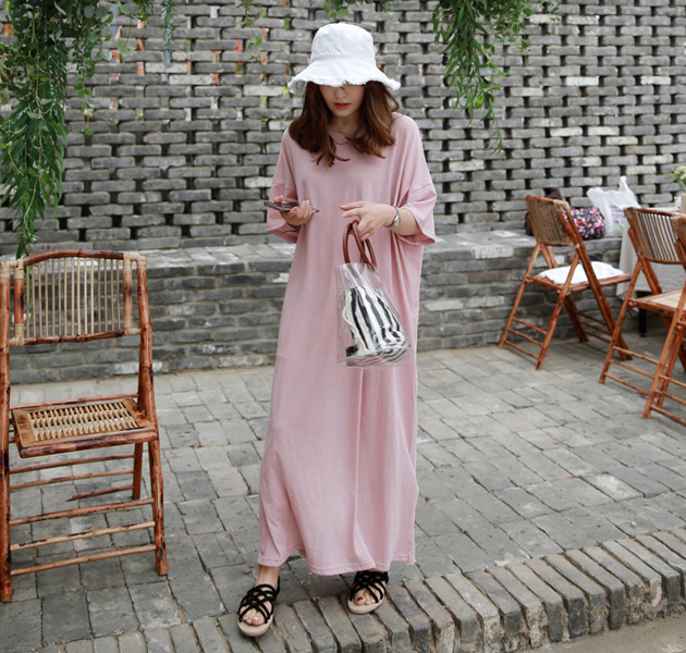 Loose Fit Maxi T-Shirt Dress